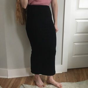 Urban Outfitters Black Maxi Skirt